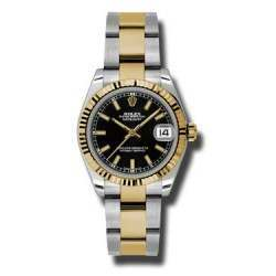 Rolex Lady Datejust 31mm Black/index Oyster 178273