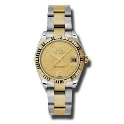 Rolex Lady Datejust 31mm Champagne/Arab 6 Oyster 178273