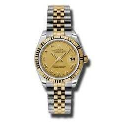 Rolex Lady Datejust 31mm Champagne Roman Jubilee 178273