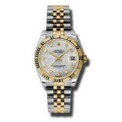 Rolex Lady Datejust 31mm White mop/diamond Jubilee 178273