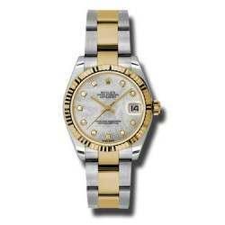 Rolex Lady Datejust 31mm White mop/diamond Oyster 178273