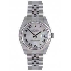 Rolex Lady Datejust 31mm White mop Roman Jubilee 178274