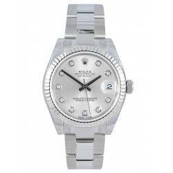 Rolex Lady Datejust 31mm Silver/diamond Oyster 178274