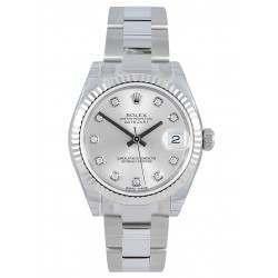 Rolex Lady Datejust 31mm Silver/diamond Oyster 178274