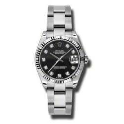 Rolex Lady Datejust 31mm Black/diamond Oyster 178274