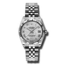 Rolex Lady Datejust 31mm White mop Roman Jubilee 178274