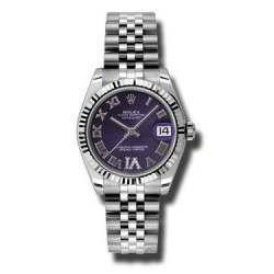 Rolex Lady Datejust 31mm Purple Roman Jubilee 178274
