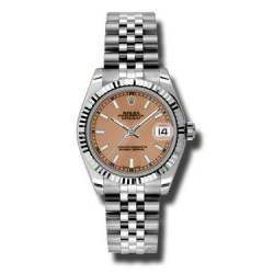 Rolex Lady Datejust 31mm Pink/index Jubilee 178274