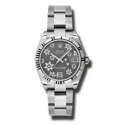 Rolex Lady Datejust 31mm Dark Rhodium/Arab 6 Oyster 178274
