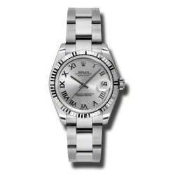 Rolex Lady Datejust 31mm Rhodium Roman Oyster 178274