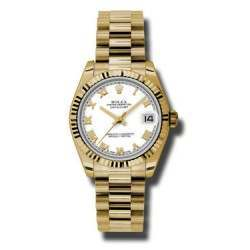 Rolex Lady Datejust 31mm White Roman President 178278