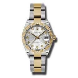 Rolex Datejust 31mm Steel&Yellow Gold Silver Jub/Diamond Oyster 178313