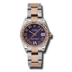 Rolex Lady Datejust 31mm Purple Roman Oyster 178341