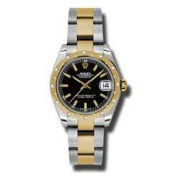 Rolex Lady Datejust 31mm Black/index Oyster 178343