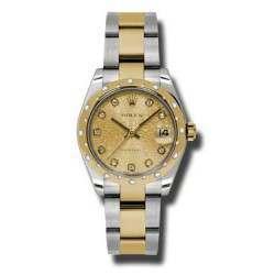 Rolex Lady Datejust 31mm Champagne Jub/diamond Oyster 178343