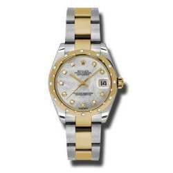 Rolex Lady Datejust 31mm White mop/diamond Oyster 178343