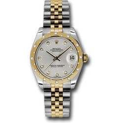 Rolex Lady Datejust 31mm Silver/diamond Jubilee 178343