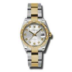 Rolex Lady Datejust 31mm Silver Jub/diamond Oyster 178343