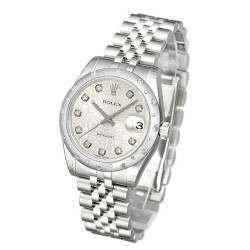 Rolex Lady Datejust 31mm Silver Jub/diamond Jubilee 178344