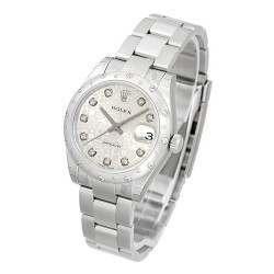 Rolex Lady Datejust 31mm Silver Jub/diamond Oyster 178344