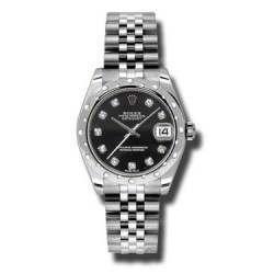 Rolex Lady Datejust 31mm Black/diamond Jubilee 178344