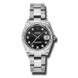 Rolex Lady Datejust 31mm Black/diamond Oyster 178344