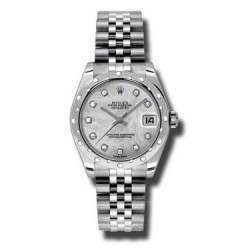 Rolex Lady Datejust 31mm White mop/diamond Jubilee 178344