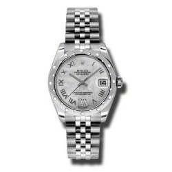 Rolex Lady Datejust 31mm White mop Roman Jubilee 178344