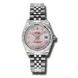 Rolex Lady Datejust 31mm Pink mop/diamond Jubilee 178344