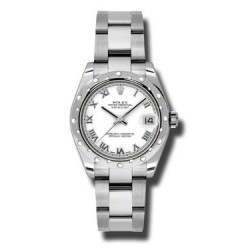 Rolex Lady Datejust 31mm White Roman Oyster 178344