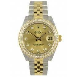 Rolex Lady Datejust 31mm Champagne/diamond Jubilee 178383