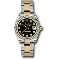 Rolex Lady Datejust 31mm Black/diamond Oyster 178383