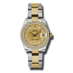 Rolex Lady Datejust 31mm Champagne/diamond Oyster 178383