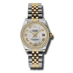 Rolex Lady Datejust 31mm White mop Roman Jubilee 178383