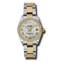Rolex Lady Datejust 31mm White mop Roman Oyster 178383