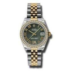 Rolex Lady Datejust 31mm Olive Green Roman Jubilee 178383