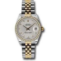 Rolex Lady Datejust 31mm Silver/diamond Jubilee 178383