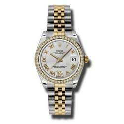 Rolex Lady Datejust 31mm Silver Roman Jubilee 178383