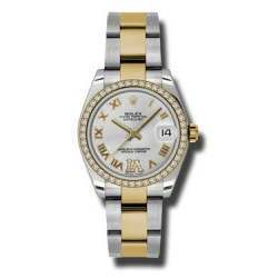 Rolex Lady Datejust 31mm Silver Roman Oyster 178383