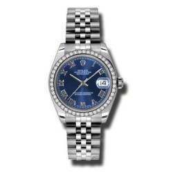 Rolex Lady Datejust 31mm Blue Roman Jubilee 178384