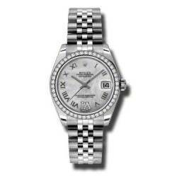 Rolex Lady Datejust 31mm White mop Roman Jubilee 178384