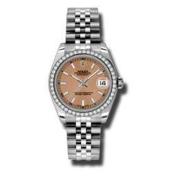 Rolex Lady Datejust 31mm Pink/index Jubilee 178384