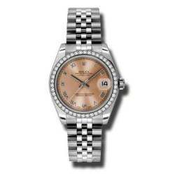 Rolex Lady Datejust 31mm Pink Roman Jubilee 178384