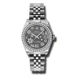 Rolex Lady Datejust 31mm Dark Rhodium/Arab 6 Jubilee 178384