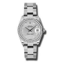 Rolex Lady Datejust 31mm Silver/diamond Oyster 178384