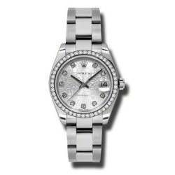 Rolex Lady Datejust 31mm Silver Jub/diamond Oyster 178384