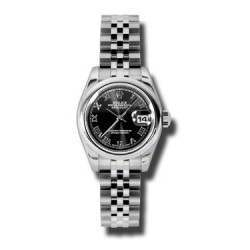 Rolex Lady-Datejust Black Roman Jubilee 179160