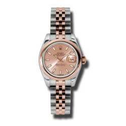 Rolex Lady-Datejust Pink/index Jubilee 179161