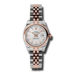 Rolex Lady-Datejust Silver/index Jubilee 179161