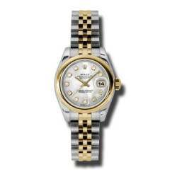 Rolex Lady-Datejust White mop/Diamond Jubilee 179163
